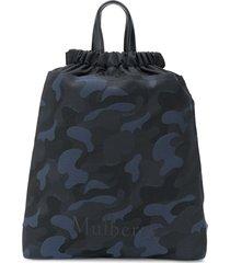 mulberry urban drawstring camp backpack - black
