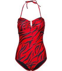 kellygz swimsuit ao19 baddräkt badkläder röd gestuz