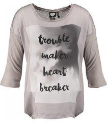 catwalk junkie loose shirt 3/4 mouw materiaalmix