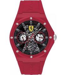 reloj ferrari modelo 830786 rojo hombre