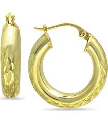 giani bernini medium hoop earrings in 18k gold-plated sterling silver, created for macy's