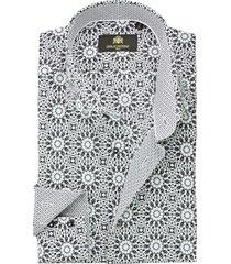 circle of gentlemen overhemd deacon zwarte print slim fit