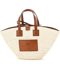 etro tote bag in woven straw
