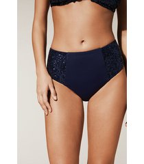 calzedonia barbara high-waisted bikini bottoms woman blue size 2