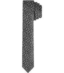 corbata pala angosta en seda diseño textura para hombre 94380