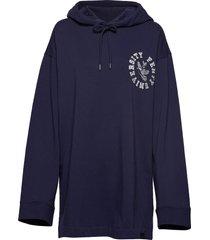 ls back lacing hoodie hoodie trui blauw puma