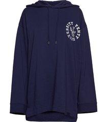 ls back lacing hoodie sweat-shirts & hoodies hoodies blauw puma