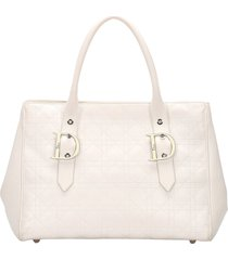 borsa donna a mano shopping in pelle cannage
