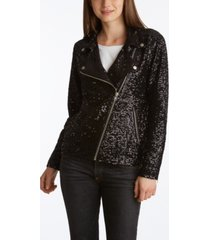 adyson parker women's sequin moto jacket
