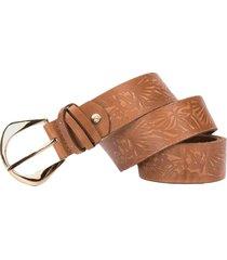cinturón unifaz hojas del trópico de cuero para mujer