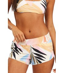 billabong last rays swim shorts, size small in multi at nordstrom