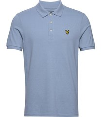 polo shirt polos short-sleeved blå lyle & scott