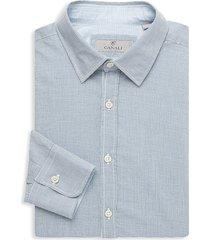 canali men's modern-fit dress shirt - blue - size xxl