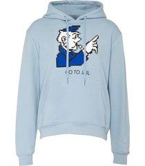 'monopoly whistler' print hoodie