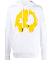 mcq alexander mcqueen relaxed-fit monster hoodie - white