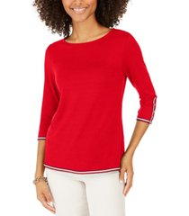 tommy hilfiger contrast-trim top