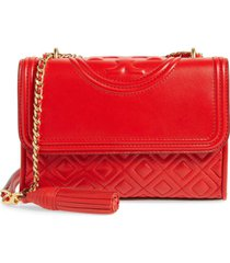 bolso tory burch convertible fleming 43833 - rojo exotico