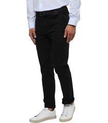 pantalon cinco bolsillos negro guy laroche