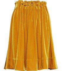 moose velvet knälång kjol gul line of oslo
