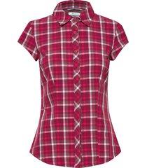 saturday trail™ ii stretch print ss kortärmad skjorta röd columbia