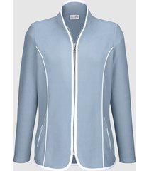 fleece vest dress in blauw::wit