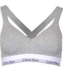 calvin klein bralette lift top modern cotton grijs, medium