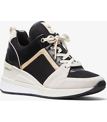 mk sneaker georgie in materiale misto tricolore - lt crm multi - michael kors