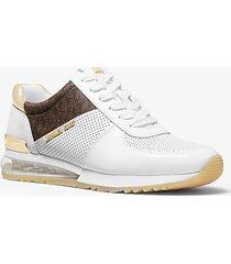 mk sneaker allie extreme in materiale misto con logo - combo bianco (bianco) - michael kors