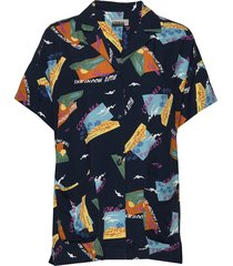 gaeb w blouses short-sleeved multi/mönstrad napapijri