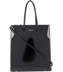 medea mini vinyl tote bag - black