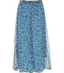noella noella paja kjol ljusblå blommig