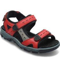 68872-13 shoes summer shoes flat sandals röd rieker