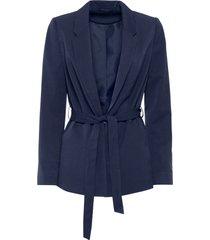 blazer con cintura (blu) - bodyflirt