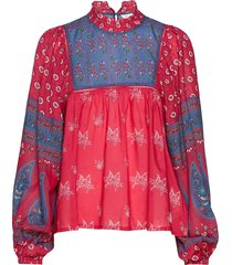la vie boheme blouse blus långärmad röd odd molly
