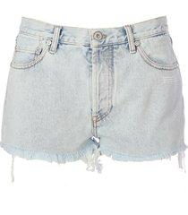 off-white bleach shorts blue no color