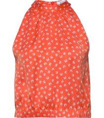 rodebjer loulou paisley blouse mouwloos oranje rodebjer