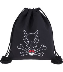 pokemon backpack drawstring bag school bags for teenagers cubone skull women mol