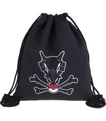 pokemon backpack drawstring bag school bags for teenagers cubone skull women mol