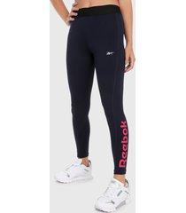 leggings azul reebok essentials linear logo tights