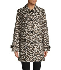 kate spade new york women's leopard-print trench coat - leopard - size s