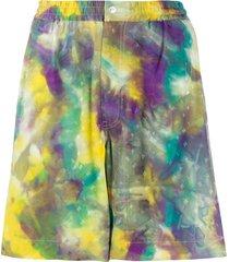 marni tie-dye jacquard monogram swim shorts - purple