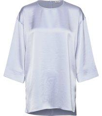 lydia top t-shirts & tops long-sleeved blauw filippa k