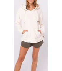 thread and supply cozy chenille hooded sweater