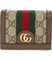 women's gucci ophidia gg supreme card case on a chain -