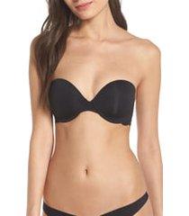 women's skarlett blue goddess multi-way strapless bra, size 32c - black