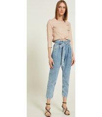 motivi jeans carrot con fusciacca donna blu