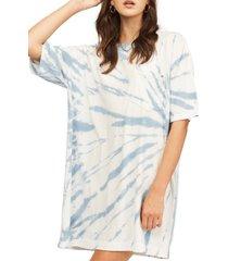 women's billabong surf side tie dye dress, size large - blue