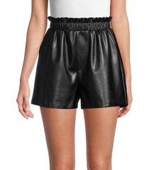 bb dakota women's stretch faux leather shorts - black - size m