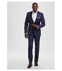 reserve collection tailored fit windowpane plaid reda 1865 sustainawool men's suit - big & tall by jos. a. bank