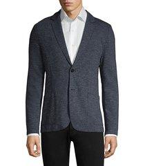 hugo men's agaltu marled blazer jacket - dark blue - size 46 r